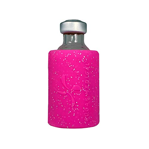 Sugar Medical Insulin Vial Protective Sleeve. Silicone Cover to Protect Your Insulin Vial from Breaking. Fits 10ml Insulin Brands. (Pink Glitter)