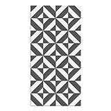 Alfombra Vinílica Geométrica, 80 x 40 x 0.22 cm, Gris Oscuro, Alfombra de Vinilo, Base Antideslizante, Lavable y Recortable, ALV-052-GO