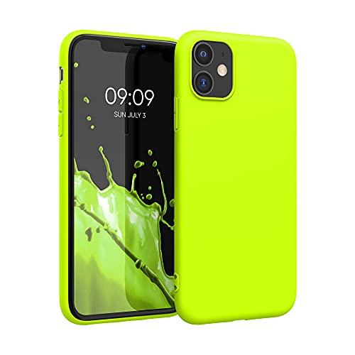 kwmobile Custodia Compatibile con Apple iPhone 11 - Cover in Silicone TPU - Back Case per Smartphone - Protezione Gommata Giallo Fluorescente