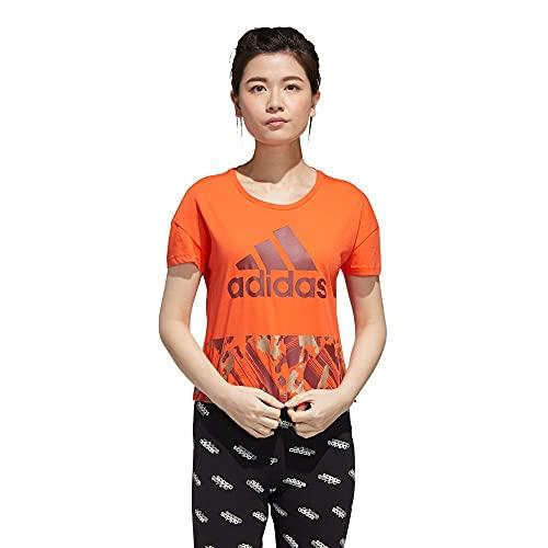 adidas W U-4-U Crop T Camiseta, Mujer, seroso/Rojleg, L