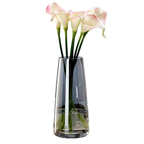 Ins Vaso di vetro moderno irrised cristallo trasparente vaso per la decorazione della casa ufficio (grigio cristallo)
