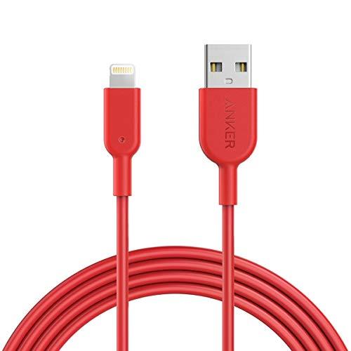 Anker iPhone Ladekabel Powerline II iPhone Kabel 1,8m Lightning Kabel, MFi-Zertifiziert für iPhone XS/XS Max/XR/X/ 8/8 Plus/ 7/7 Plus/ 6s/ 6/6 Plus/ 5S/ 5/ iPad Pro (Rot)