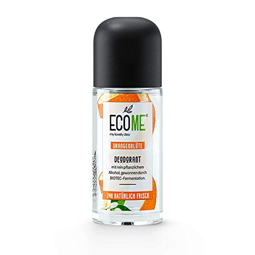 ECOME Deo Roll-On Azahar 50ml 0% Sales de Aluminio Vegano Pieles Sensibles