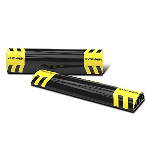 Flex HQ Parking Aid Target Wheel Stopper, Protects Cars and Garage Walls, Easy to Install, Peel and Stick, 2 pcs per Set