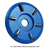 Disco Amoladora Madera Fresa de Seis Dientes para Amoladora Angular de Apertura de 16 mm