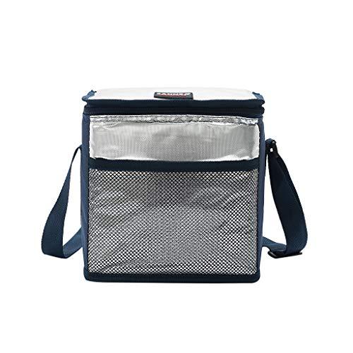 JenK Cing Kühltasche Thermo-Picknick Wasserdicht Kühler Tasche Lunchpaket für Outdoor Camping, Strand Tag oder Reise lunchpaket Frauen männer Kinder kühler Erwachsene Tote Food Lunchbox(Marine)