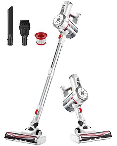 VOSFEEL Z10 Akku Staubsauger Kabellos 170W 18000Pa leiser 4 in 1 LED-bürste fur Hartboden Teppich Auto (170W)