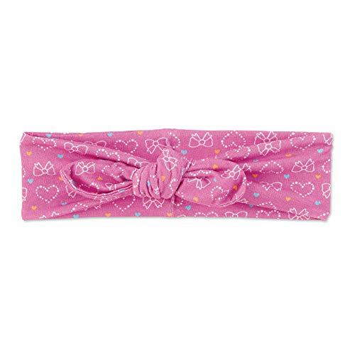 Sterntaler Stirnband für Mädchen mit Knoten und Herz-/Schleifen-Motiven, Alter: 12-18 Monate, Größe: 49, Pink