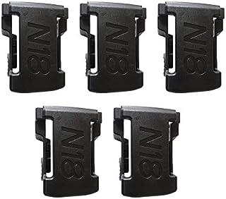Libertroy 5PCS Soportes de batería para M18 48-11-1850 Estante de Almacenamiento Soporte para Rack Soportes Ranuras Suspensión Taladro eléctrico Batería Accesorios para Herramientas - Negro
