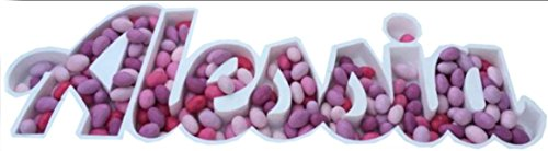 ARDITO MICHELE Porta confetti in polistirolo vassoio scritta personalizzata Altezza 15 cm colore bianco materiale compresso di alta qualità