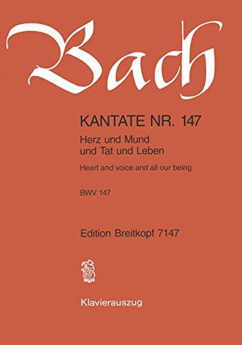Kantate 147 Herz und Mund und Tat und Leben - Klavierauszug (EB 7147)
