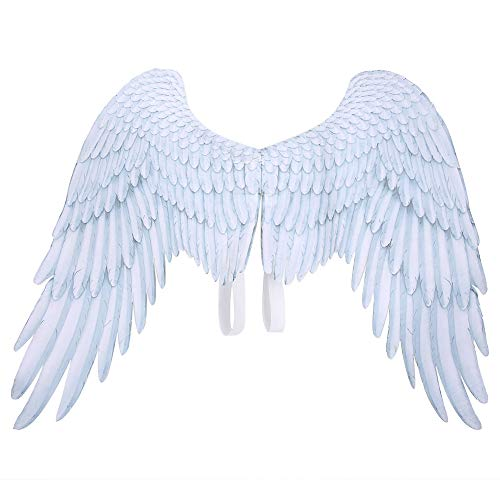 Evonecy Dekorativer gefälschter Flügel, Halloween Cosplay Flügel, für Cosplay Kinder(White Children's Angel Wings DS18002A)