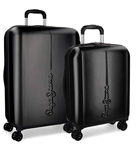 Pepe Jeans Cambridge Juego de maletas, 115 litros, 70 cm, Negro