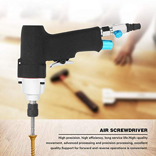 Air Screwdriver,AT-3075 5H 1/4' Air Screw Driver Gun Industrial Pneumatic Reversible Screwdriver