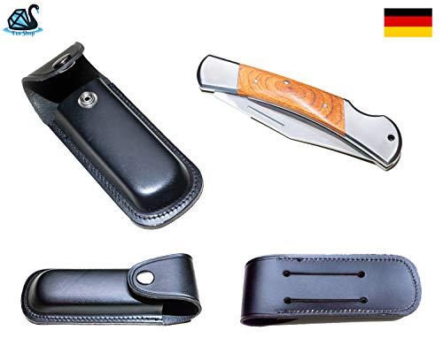 Eva Shop® Premium Messer Etui aus Leder Messertasche mit Gürtelschlaufe 15cm Taschenmesser Messeretui Multitool