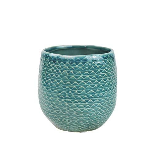 Mitienda Bloempot met liefde gemaakt Blue Dots Ceramic, bloempot turquoise, potplanten, woondecoratie raamdecoratie, cadeau-idee