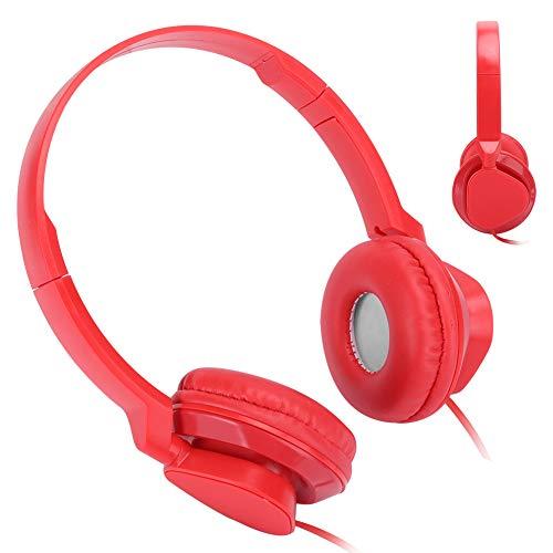 Guoshiy Auriculares del Sonido estéreo, función de la cancelación de Ruido sobre los Auriculares del oído con el Juego FM del micrófono para la PC(Red)