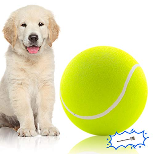 """Banfeng Giant 9.5"""" Dog Tennis Ball Large Pet Toys Funny Outdoor Sports Dog Ball Gift with Inflating Needles"""