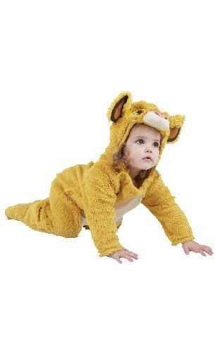 Rubies Disney Simba del león Rey de Vestuario. Bebé 18-24 Meses. Furry Mono de una Pieza.