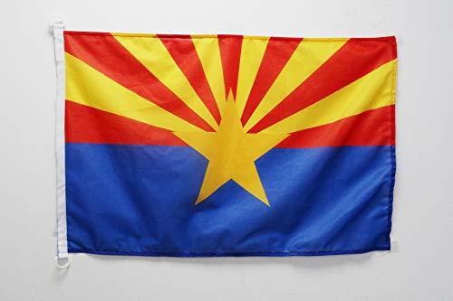 AZ FLAG Flagge Arizona 90x60cm - Bundesstaat Arizona Fahne 60 x 90 cm Aussenverwendung - flaggen Top Qualität