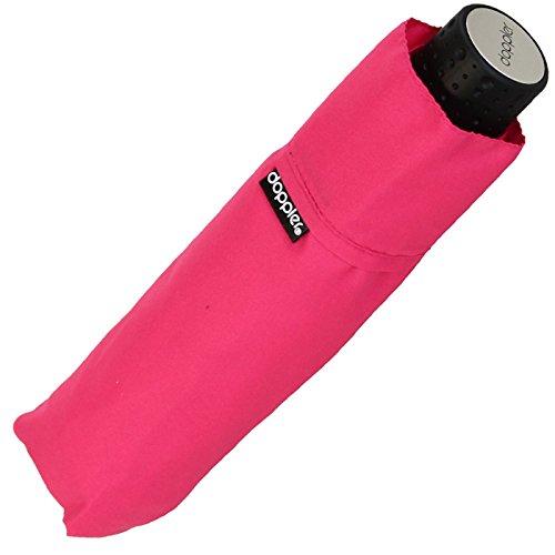 Doppler Regenschirm Mini- Taschenschirm Havanna Stick - sturmfest Uni pink