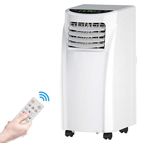 Toolsempire Portable Air Conditioner 8000BTU Easycool 3-in-1 Floor AC Unit with Dehumidifier,Fan Modes,Remote Control,Complete Window Mount Exhaust Kit for Rooms Up to 230 Sq,White