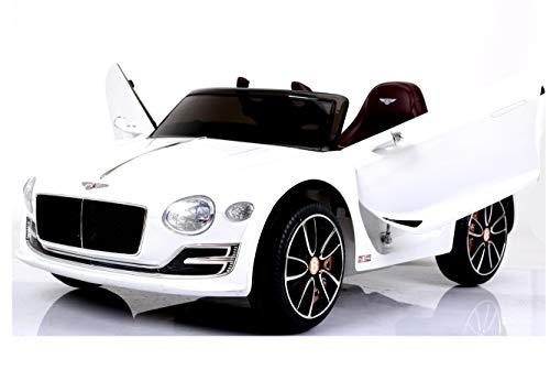 Bentley Elektro Kinderauto/Ledersitz / 2 x 390 Motor / 2 x 6V4AH Batterie/Hartgummi Reifen/USB / SD / MP3 / Modell 2018