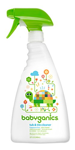 Babyganics Toy & Highchair Cleaner Spray, Packaging May Vary, 17 Fl Oz (Pack of 2)