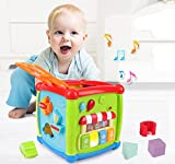 Dados de actividad para niños de 1 y 2 años, juguete para niños con luz musical, regalo para niños y niñas a partir de 6 a 12 meses