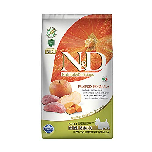 Natural & Delicious Pumpkin Grain Free Adult Mini con Cinghiale, Zucca e Mela - gr.800