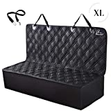 Meadowlark XL Dog Car Back Seat Cover-Waterproof Bench Seat Protector for Pets, Universal for Cars, Large Trucks & SUV's- Thick, Padded,Heavy Duty, Non-Slip, Machine Washable-Dog Seat Belt as a Bonus