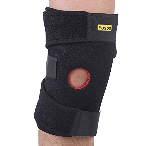 Knee Brace Support, Yosoo Adjustable Patella Knee Arthritis Support Protector Brace Strap Bandage for Hiking Basketball and Other Sports