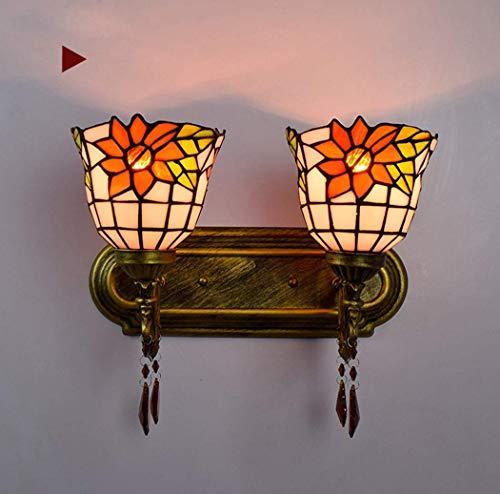 DALUXE Hoja de Pared de Estilo Tiffany, Interior de Vidrio Manchado de escoce, Sala de Estar de Pared Sala de Estar