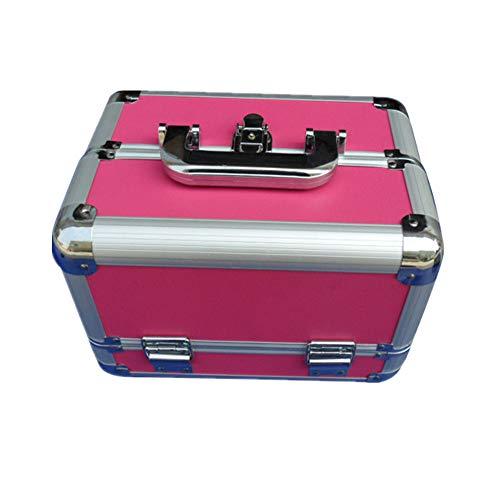 Glenn Southey Boîte cosmétique de Stockage Beauté Maquillage Fille Voyage féminin et Stockage Quotidien avec étui de Plastique Portable Grande capacité verrouillable