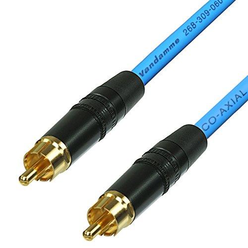 SPDIF Digital Audio Video Coaxial Cable RCA a RCA Van Damme 75...