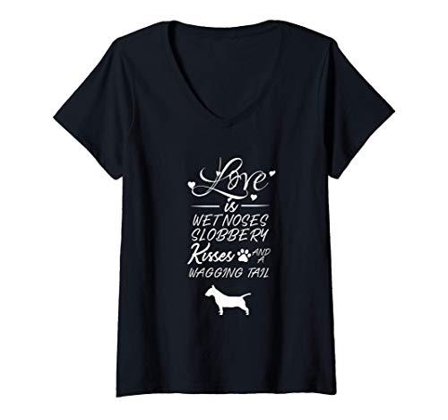 Mujer Grifón de Bruselas Love My Dog Quotes para las mujeres Camiseta Cuello V