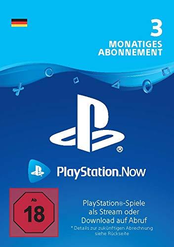 PlayStation Now - Abonnement 3 Monate (deutsches Konto) | PS5/PS4/PS3 Download Code - deutsches Konto