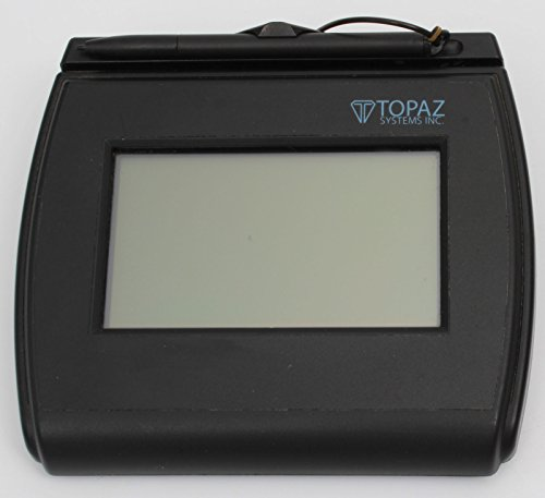 Topaz T-LBK750-BHSB-R Backlit 4x3 LCD Signature Capture Pad Dual Serial/USB
