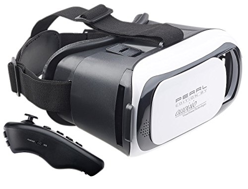 auvisio VR Controller PC: Virtual-Reality-Brille für Smartphones + 2in1-Mini-Game-Controller (Controller, Bluetooth)