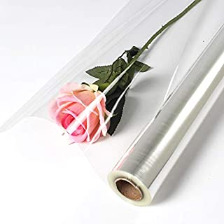 Gift Wrapping Paper - 0.6Mx50M Clear Cellophane Wrap Roll Transparent OPP Plastic Wraps Flower Fruit Basket Gift Packing Paper Material
