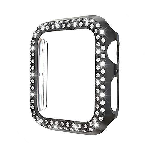 PZZZHF Cubierta de la Caja del Reloj de la Parachoques de Bling para el Reloj de Apple 5 Se 6 44mm 40 mm Funda Protectora de Diamante para iWatch 4 3 2 1 Accesorios 42mm38mm