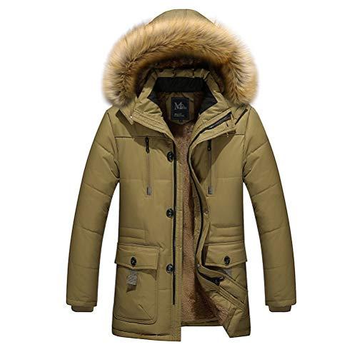 ROBO Manteau Hiver Homme Caban avec Capuche Parka Coton Veste Padded Blouson Epais Casual