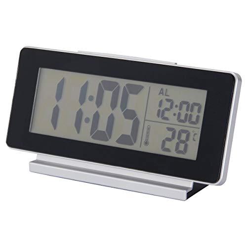 IKEA FILMIS Reloj/termómetro/alarma 16,5x4x9 cm negro