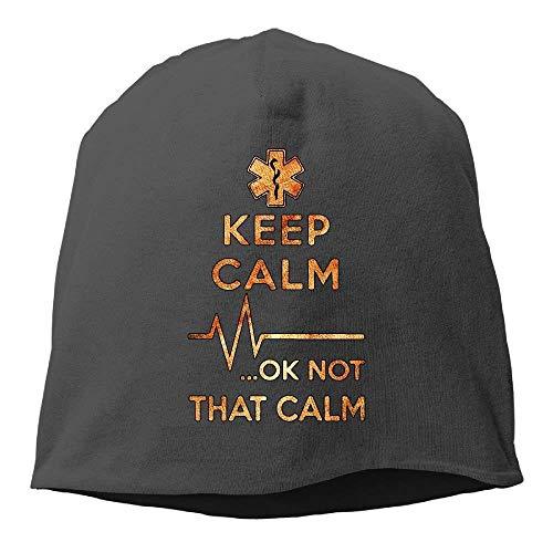 VTXINS grappige mode muts paramedicus houden kalm OK winter beanie schedel cap warm gebreide ski slouchy hoed duurzaam