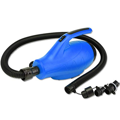 Wuhan Yoga Bomba de Aire eléctrica Portable de la Bomba de Aire Gimnasia Mat Estera de la Aptitud del Dibujo Mat Mat Inflable Que acampa Bomba de Aire Eléctrica (Color : Blue)