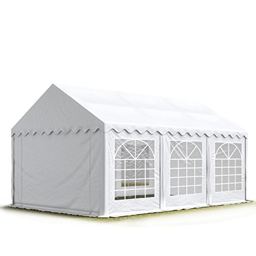 TOOLPORT Party-Zelt Festzelt 3x6 m Garten-Pavillon -Zelt ca. 500g/m² PVC Plane in weiß Wasserdicht