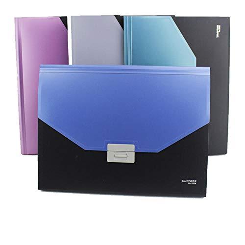 4 Stücke Datei Organizer, A4 Schreibtisch Speicher Expander datei paket test papiertüte ordner mehrschichtige bürodaten aktentasche Umschlag Ordner für Büro/Business/Schule