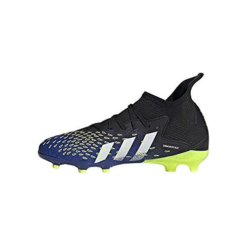 adidas Predator Freak .3 FG, Scarpe da Calcio Uomo, Core Black/Ftwr White/Solar Yellow, 42 2/3 EU