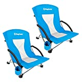 KingCamp Camping Chair, Lightweight Multi-Color Folding Beach Chair for Garden Lawn Picnic Concert,...