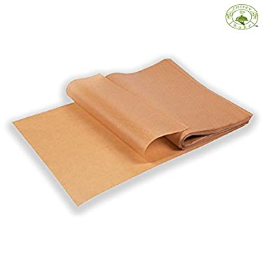 EntréeBake Unbleached 12x16 Precut Parchment Paper Baking Sheet Liners (100 pcs) - Will not Curl or Burn - Quicker than Roll - Perfect for Half Sheet Pans - Ziplock For Easy Storage